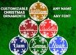 Customizable Christmas Name Ornament