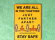 Customizable Safe Distance Sign - Together